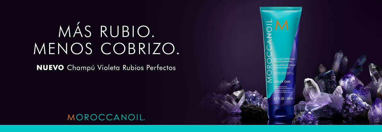 Nuevo Shampoo Violeta Rubios Perfectos de Moroccanoil